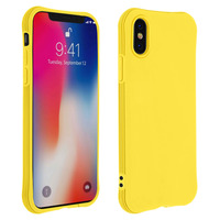Avizar Coque Apple iPhone X / XS Silicone Flexible Bumper Résistant - jaune