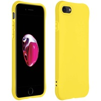 AVIZAR COQUE APPLE IPHONE 7 / 8 / SE 2020 SILICONE FLEXIBLE BUMPER RÉSISTANT FINE JAUNE