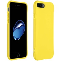 AVIZAR COQUE APPLE IPHONE 7 PLUS / 8 PLUS SILICONE FLEXIBLE BUMPER RÉSISTANT FINE JAUNE