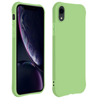 Avizar Coque Apple iPhone XR Silicone Flexible Bumper Résistant - vert
