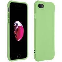 AVIZAR COQUE APPLE IPHONE 7 / 8 / SE 2020 SILICONE FLEXIBLE BUMPER RÉSISTANT FINE VERT