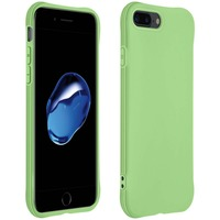 Avizar Coque Apple iPhone 7 Plus / 8 Plus Silicone Flexible Bumper Résistant Fine vert