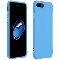 AVIZAR COQUE APPLE IPHONE 7 PLUS / 8 PLUS SILICONE FLEXIBLE BUMPER RÉSISTANT FINE BLEU