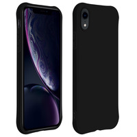 Avizar Coque Apple iPhone XR Silicone Flexible Bumper Résistant - noir