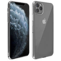Avizar Coque iPhone 11 Pro Max Silicone Souple et Film Verre Trempé 9H Transparent