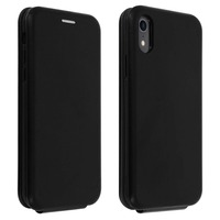 Avizar Étui Apple iPhone XR Housse Clapet vertical Cuir Porte-carte Noir