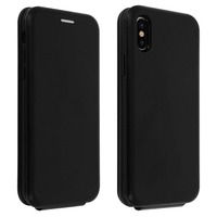 Avizar Étui Apple iPhone X / XS Housse Clapet vertical Cuir Porte-carte Noir