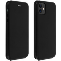 Avizar Étui Apple iPhone 11 Housse Clapet vertical Cuir Porte-carte Noir