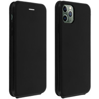 Avizar Étui Apple iPhone 11 Pro Housse Clapet vertical Cuir Porte-carte Noir
