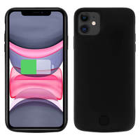 Avizar Coque iPhone 11 Protection Rigide 2 en 1 Batterie 6000mAh Noir