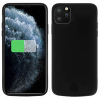 Avizar Coque iPhone 11 Pro Max Protection Rigide 2 en 1 Batterie 6000mAh Noir