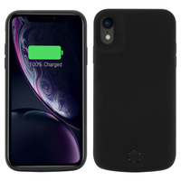 Avizar Coque Batterie iPhone XR Batterie intégrée 5000mAh Indicateur LED - Noir