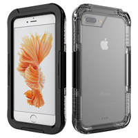 Avizar Coque Waterproof IP68 6m De Profondeur iPhone 7 Plus / iPhone 8 Plus Noir