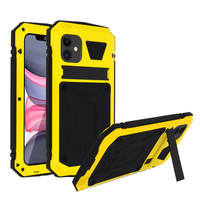 Avizar Coque iPhone 11 Aluminium Silicone Support Vidéo Tank Series Jaune