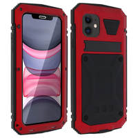 Avizar Coque iPhone 11 Aluminium Silicone Support Vidéo Tank Series Rouge