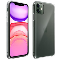 Avizar Coque iPhone 11 Silicone semi-rigide Résistante Fin Léger transparent