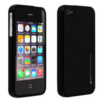 Avizar Coque Apple iPhone 4 / 4S Silicone Gel Flexible Résistant Ultra fine noir