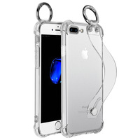 AVIZAR COQUE APPLE IPHONE 7 PLUS / 8 PLUS ANTICHOC POIGNÉE ET MOUSQUETON TRANSPARENT
