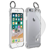 AVIZAR COQUE APPLE IPHONE 6 PLUS / 6S PLUS ANTICHOC POIGNÉE MOUSQUETON TRANSPARENT