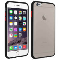 Avizar Coque iPhone 6 Plus / 6S Plus Dos Translucide Finition Mate Rigide Antichoc Noir