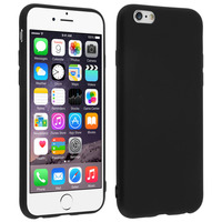 Avizar Coque iPhone 6S / 6 Coque Silicone Gel Souple Mat Protection Antirayures Noir