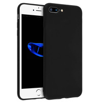 Avizar Coque Silicone TPU Gel Souple iPhone 7 Plus / iPhone 8 Plus Noir Mat
