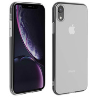 Avizar Coque Apple iPhone XR Silicone Gel Contour transparent - Blanc givré