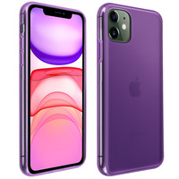 Avizar Coque iPhone 11 Silicone Gel Flexible Résistant Ultra fine violet