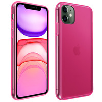Avizar Coque iPhone 11 Silicone Gel Flexible Résistant Ultra fine rose
