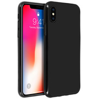 AVIZAR COQUE IPHONE X / XS PROTECTION SILICONE GEL INCASSABLE - NOIR