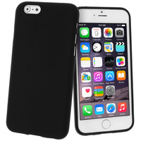 Avizar Coque de Protection Silicone Gel pour Apple iPhone 6 - Noir