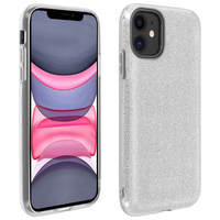AVIZAR COQUE IPHONE 11 PROTECTION SEMI-RIGIDE DESIGN PAILLETÉE SOUPLE ET FINE ARGENT