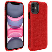 AVIZAR COQUE IPHONE 11 PROTECTION SEMI-RIGIDE DESIGN PAILLETÉE SOUPLE ET FINE ROUGE