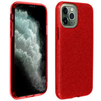 AVIZAR COQUE IPHONE 11 PRO MAX PROTECTION SEMI-RIGIDE PAILLETÉE SOUPLE ET FINE ROUGE