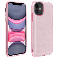 AVIZAR COQUE IPHONE 11 PROTECTION SEMI-RIGIDE DESIGN PAILLETÉE SOUPLE ET FINE ROSE