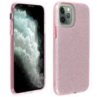 AVIZAR COQUE IPHONE 11 PRO PROTECTION FINE SEMI-RIGIDE DESIGN PAILLETÉ ROSE