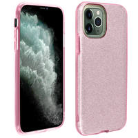 AVIZAR COQUE IPHONE 11 PRO MAX PROTECTION SEMI-RIGIDE PAILLETÉE SOUPLE ET FINE ROSE