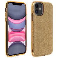 AVIZAR COQUE IPHONE 11 PROTECTION SEMI-RIGIDE DESIGN PAILLETÉ SOUPLE ET FINE OR