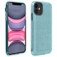 AVIZAR COQUE IPHONE 11 PROTECTION SEMI-RIGIDE DESIGN PAILLETÉE SOUPLE ET FINE BLEU