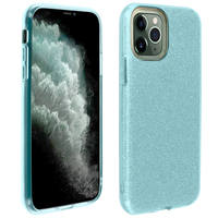 AVIZAR COQUE IPHONE 11 PRO PROTECTION FINE SEMI-RIGIDE PAILLETÉE BLEU