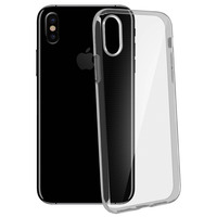 Avizar Coque iPhone X / XS Coque souple Silicone Gel coin renforcée - Transparente