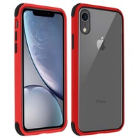 AVIZAR COQUE APPLE IPHONE XR PROTECTION BI-MATIÈRE ANGLES RENFORCÉS - ROUGE