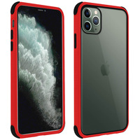 AVIZAR COQUE APPLE IPHONE 11 PRO MAX PROTECTION BI-MATIÈRE ANGLES RENFORCÉS ROUGE
