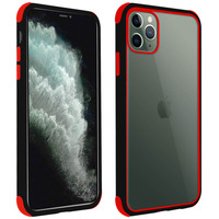 AVIZAR COQUE APPLE IPHONE 11 PRO MAX PROTECTION BI-MATIÈRE ANGLES RENFORCÉS NOIR/ROUGE