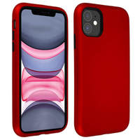 AVIZAR COQUE APPLE IPHONE 11 PROTECTION BI-MATIÈRE ANTICHOC BORDS SURÉLEVÉS ROUGE/NOIR
