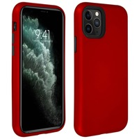 Avizar Coque Apple iPhone 11 Pro Max Bi-matière Antichoc Bords Surélevés rouge