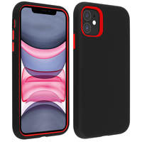 AVIZAR COQUE APPLE IPHONE 11 PROTECTION BI-MATIÈRE ANTICHOC BORDS SURÉLEVÉS NOIR/ROUGE
