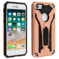Avizar Coque iPhone 7/8 Protection Bi-matière Fonction Support rose gold
