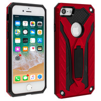 AVIZAR COQUE IPHONE SE 2020/7/8 PROTECTION HYBRIDE FONCTION SUPPORT SÉRIE PHANTOM ROUGE