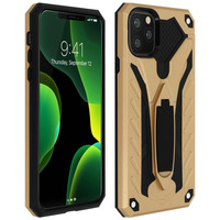 Avizar Coque Apple iPhone 11 Pro Protection Antichoc Bi-matière Support Or